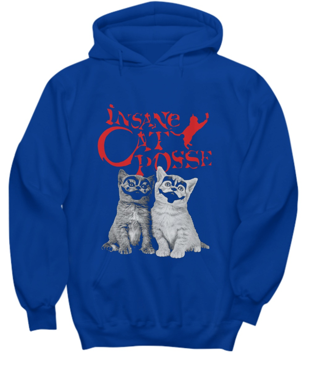 Halloween insane cat posse Hoodie