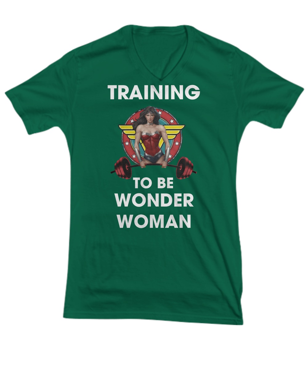 Training to be wonder woman v-neck