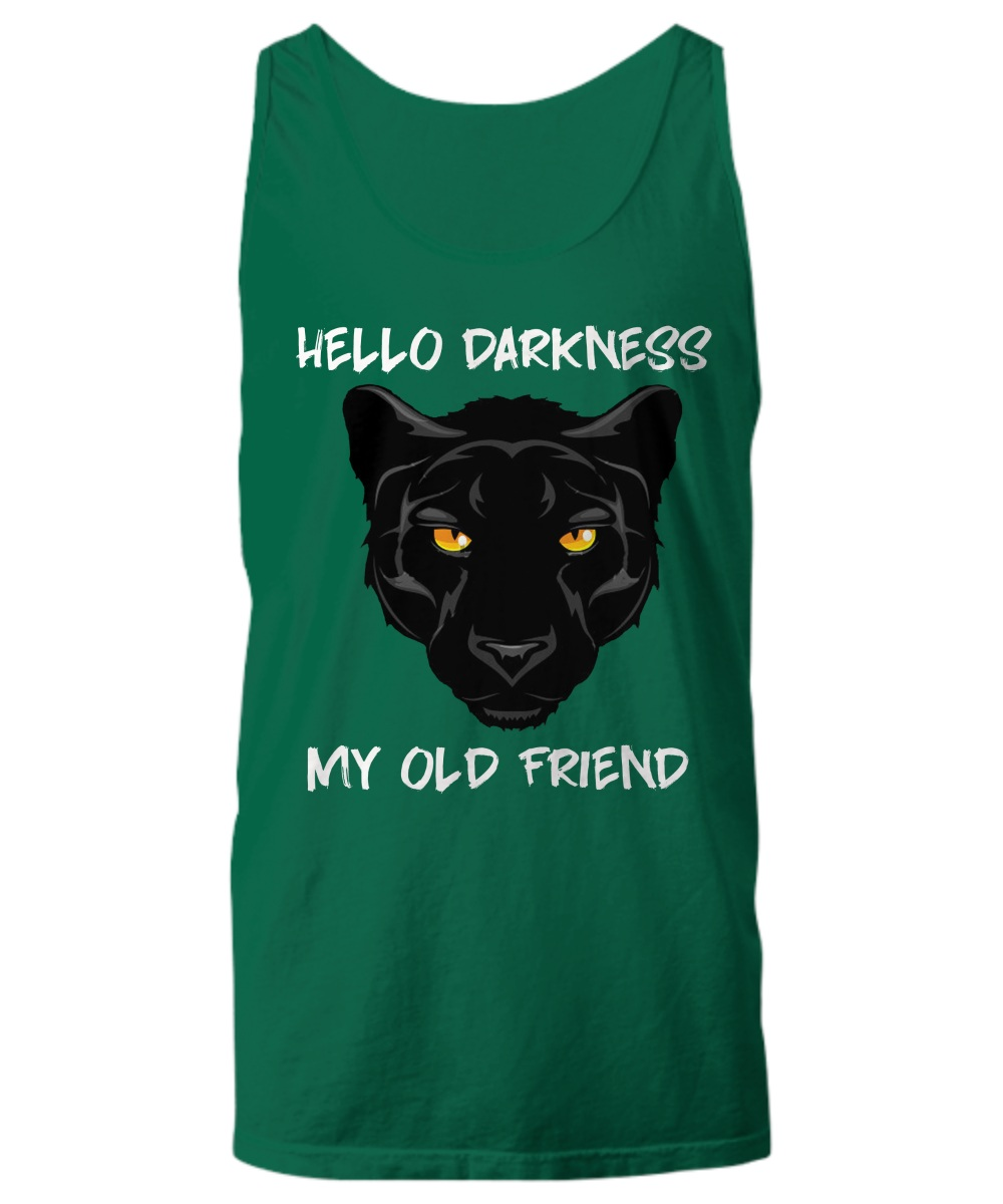 Black panther hello darkness my old friend Tank top
