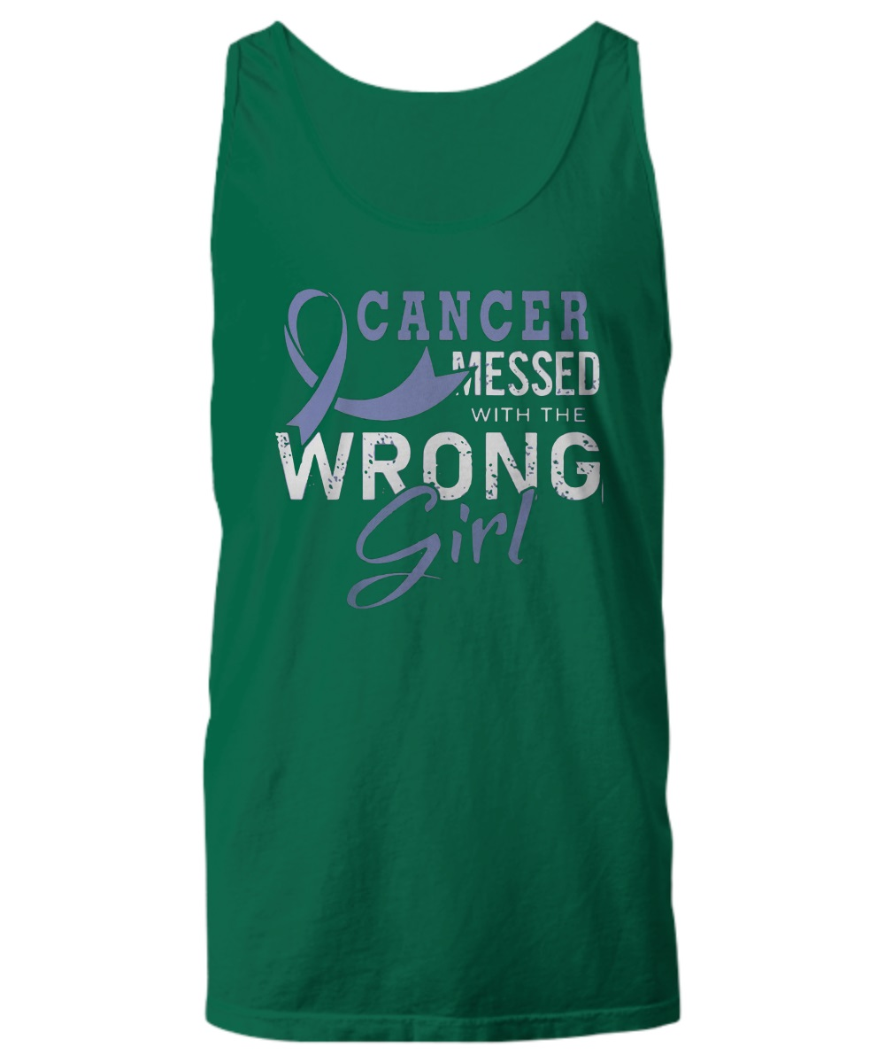 Cancer messed with the wrong girl tank top