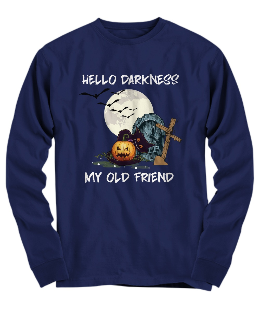 Halloween hello darkness my old friend Long Sleeve