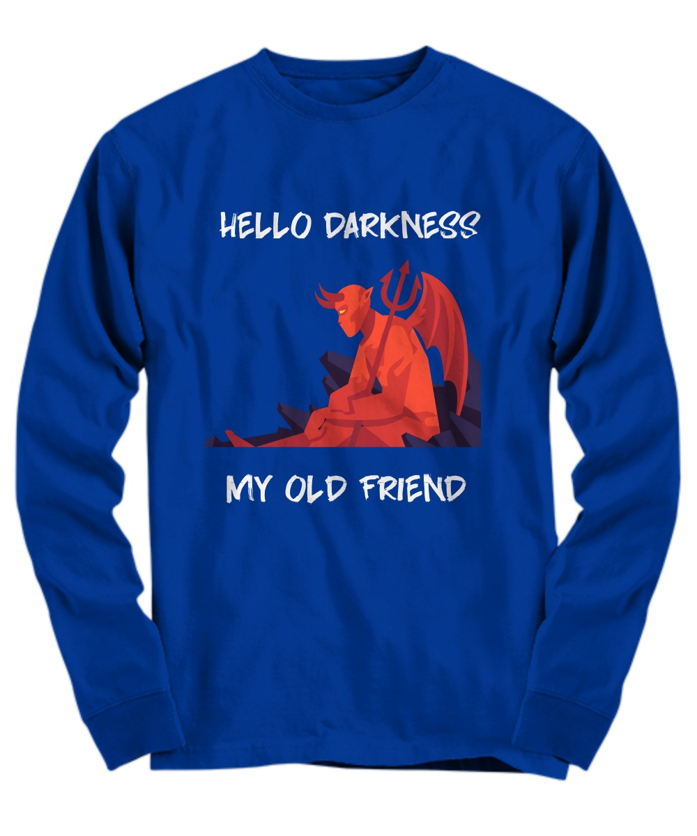 Red devil hello darkness my old friend Long Sleeve