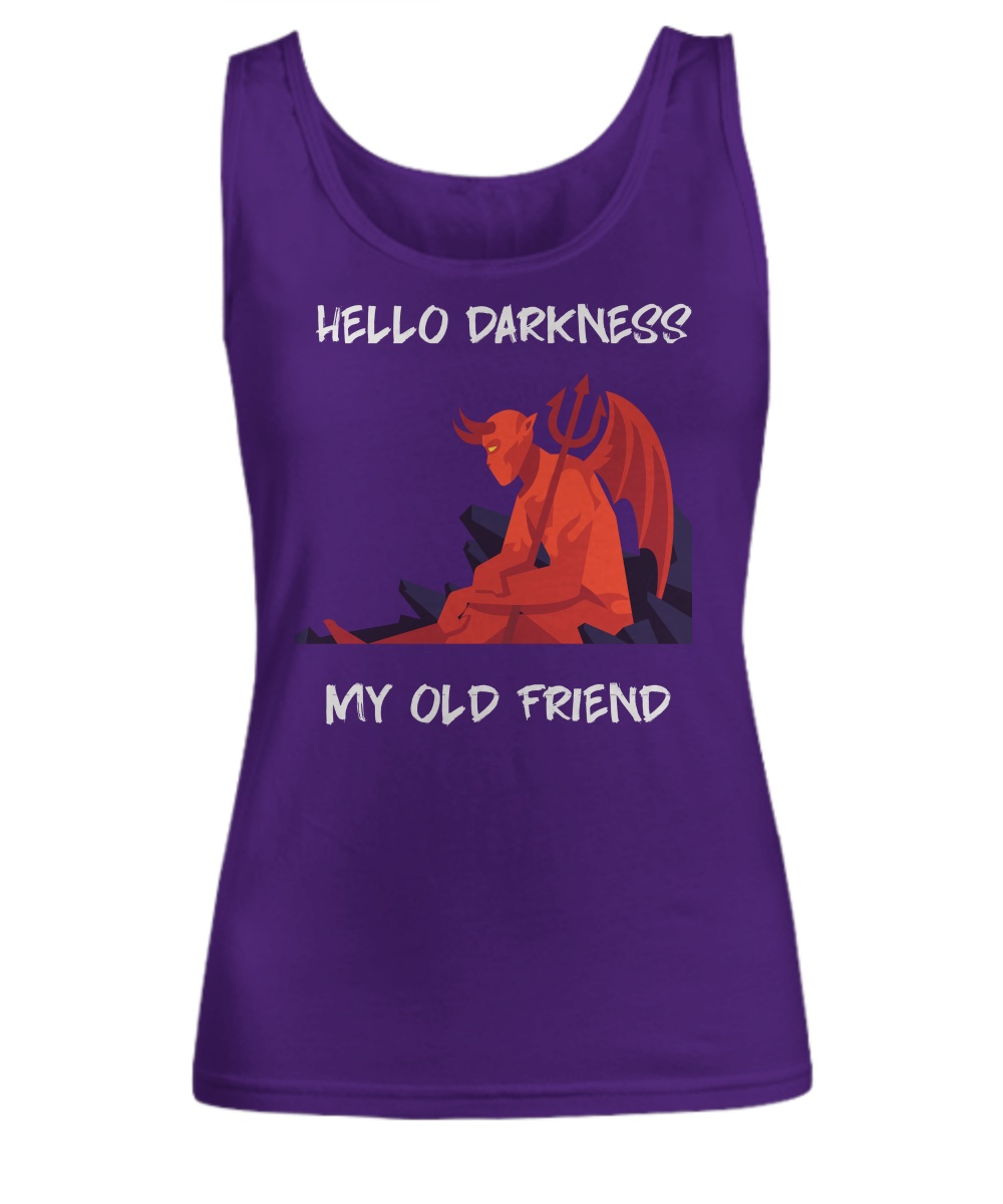 Red devil hello darkness my old friend Tank top
