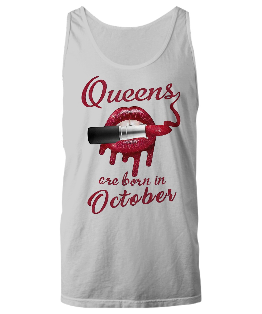 Red glitter and lipstick queens are born in Octorber Tank Top