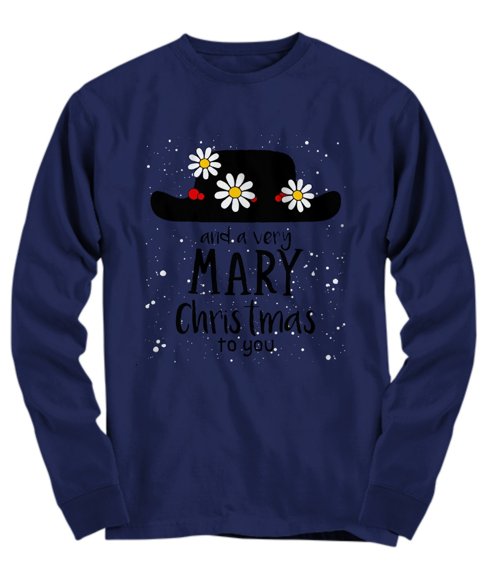 Flower hat and a very mary Christmas to you long sleeve