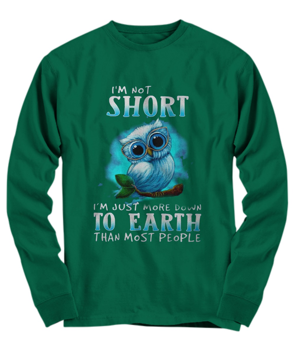 I'm not short i'm just more down to earth than most people long sleeve
