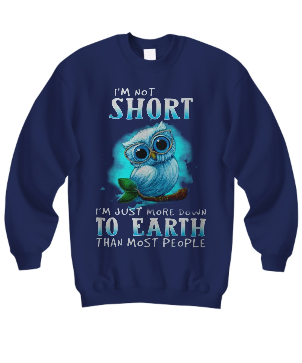 I'm not short i'm just more down to earth than most people sweatshirt