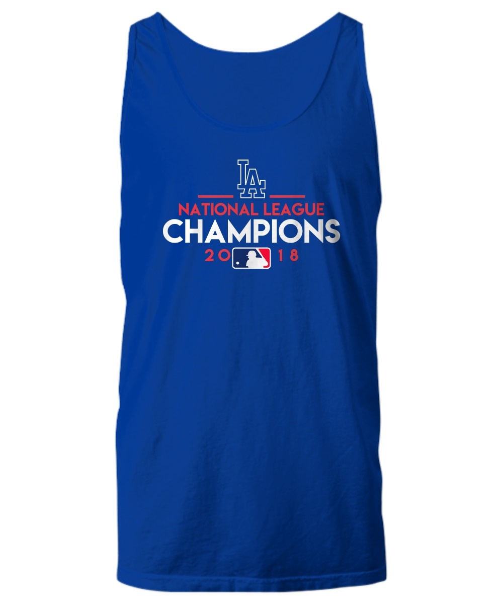 Team name of Los Angeles Dodgers baseball tank top
