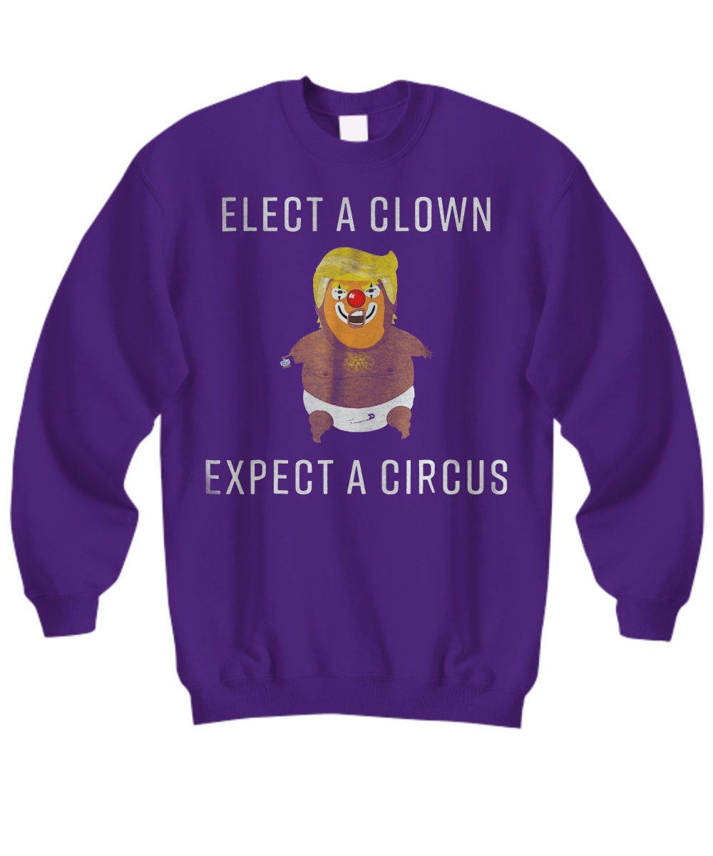 Baby Trump Blimp Balloon Float Elect A Clown Circus sweatshirt