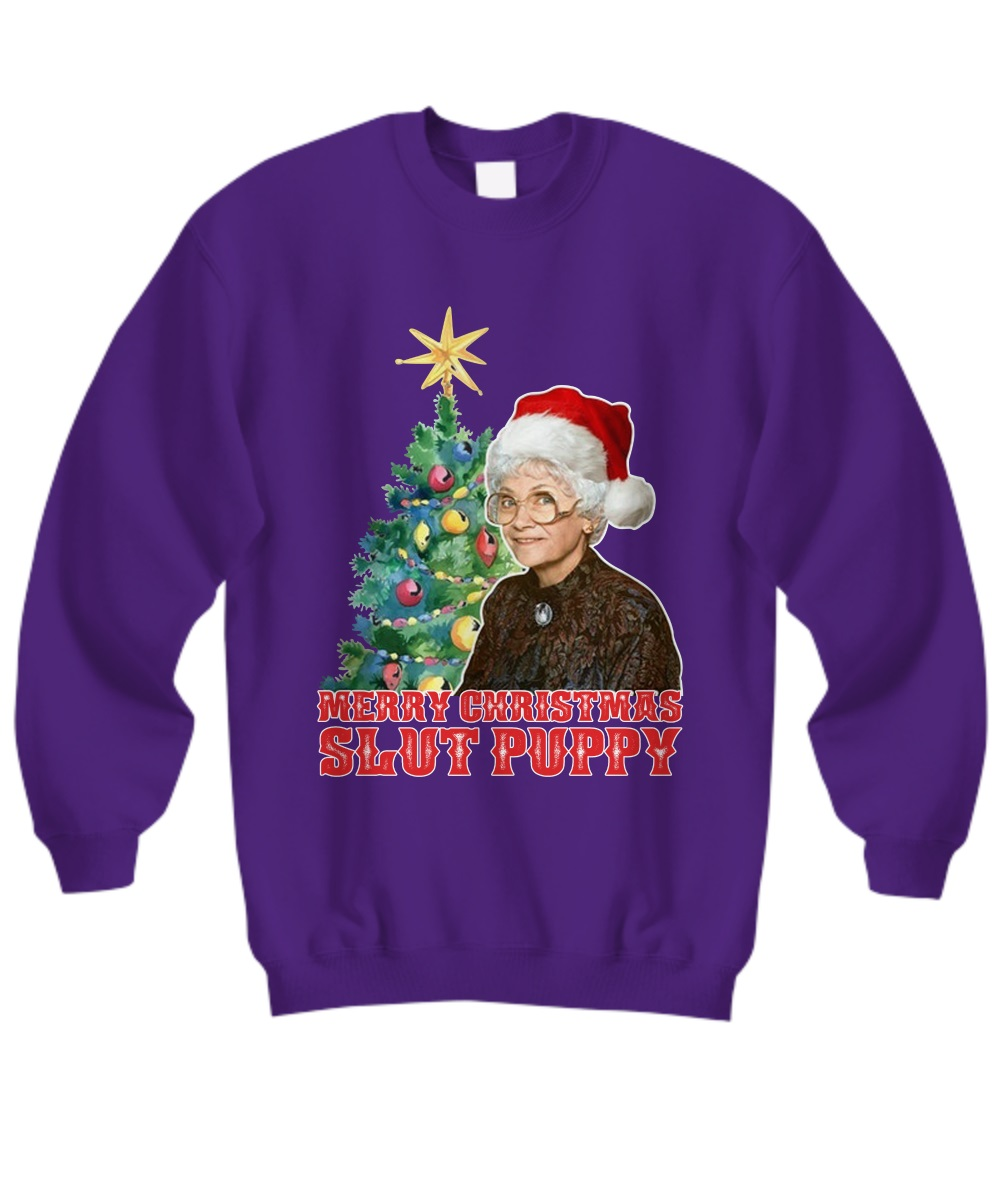 Golden Girls Sophia merry Christmas slut puppy sweatshirt