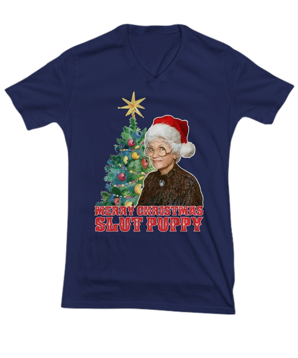 Golden Girls Sophia merry Christmas slut puppy v-neck