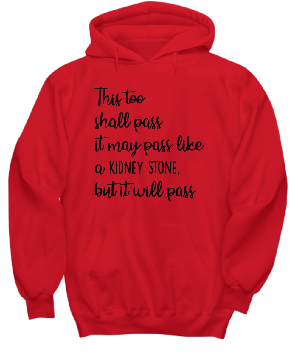 This too shall pass it may pass like a kidney stone but it will pass hoodie