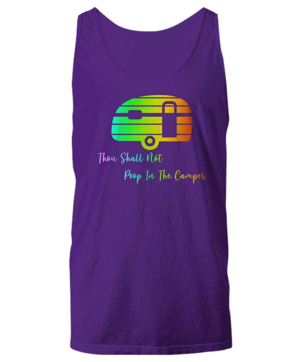 Thou shall not poop in the camper tank top