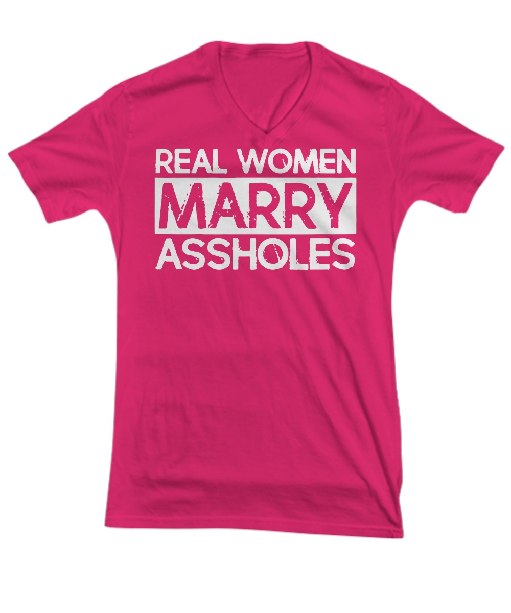 Real woman marry asshole v-neck