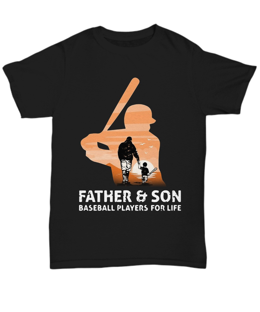 Father and son baseball players for life Unisex Tee