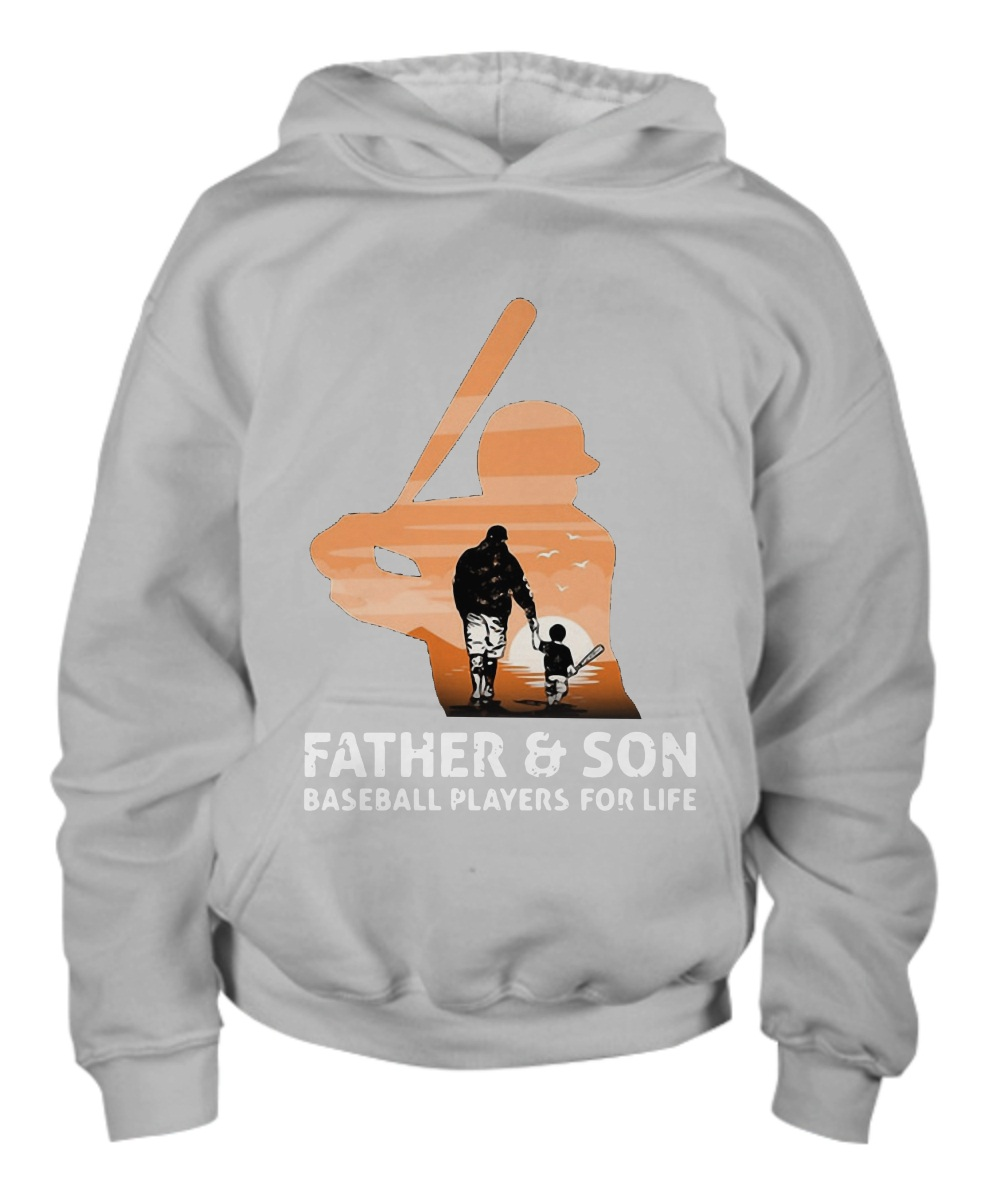Father and son baseball players for life Youth Hoodie