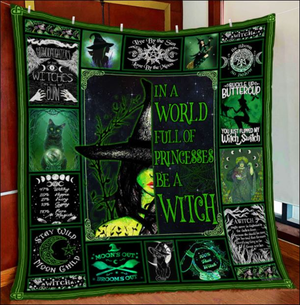 In a world full of princesses be a witch quilt 4