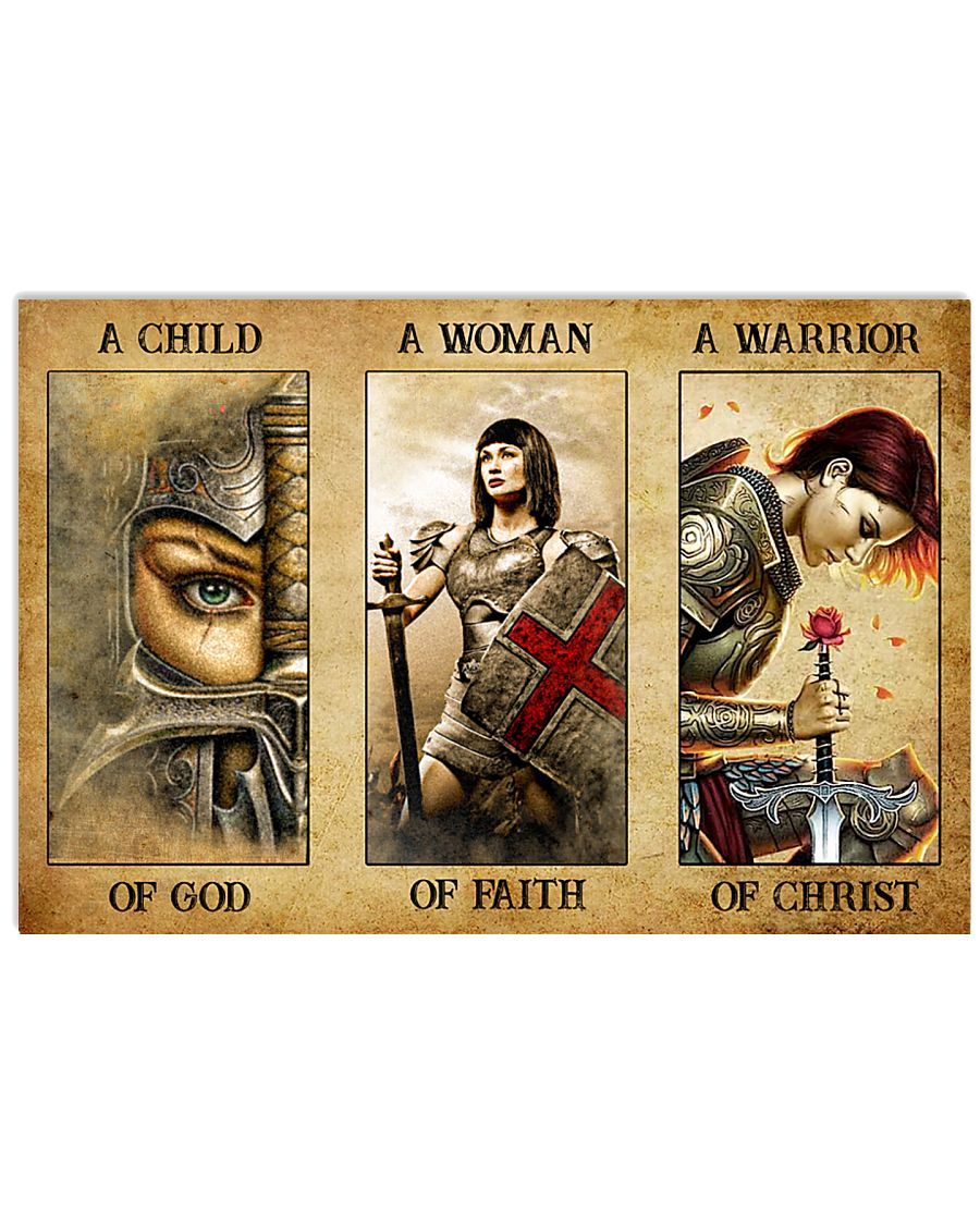 Poster Women a child of god a women of faith a warrior of child