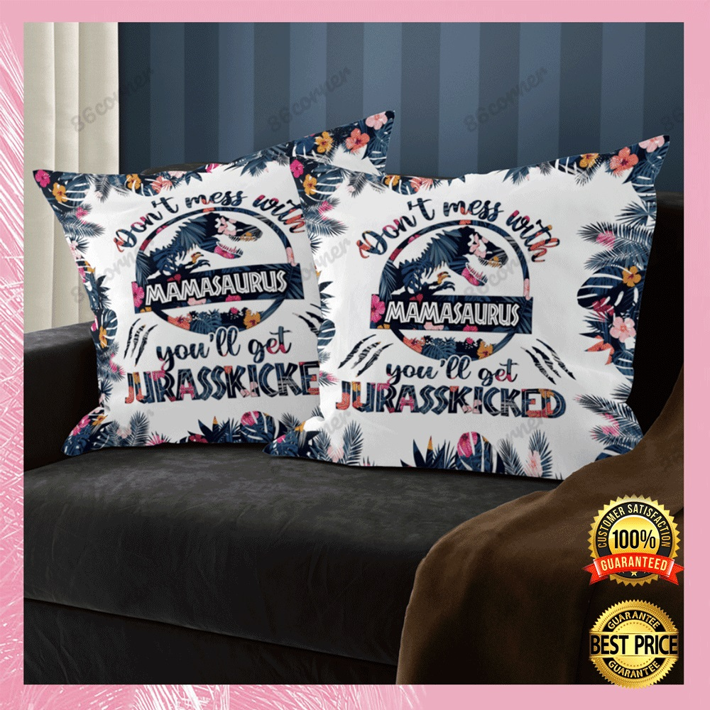 Dont mess with mamasaurus youll get jurasskicked pillow case1