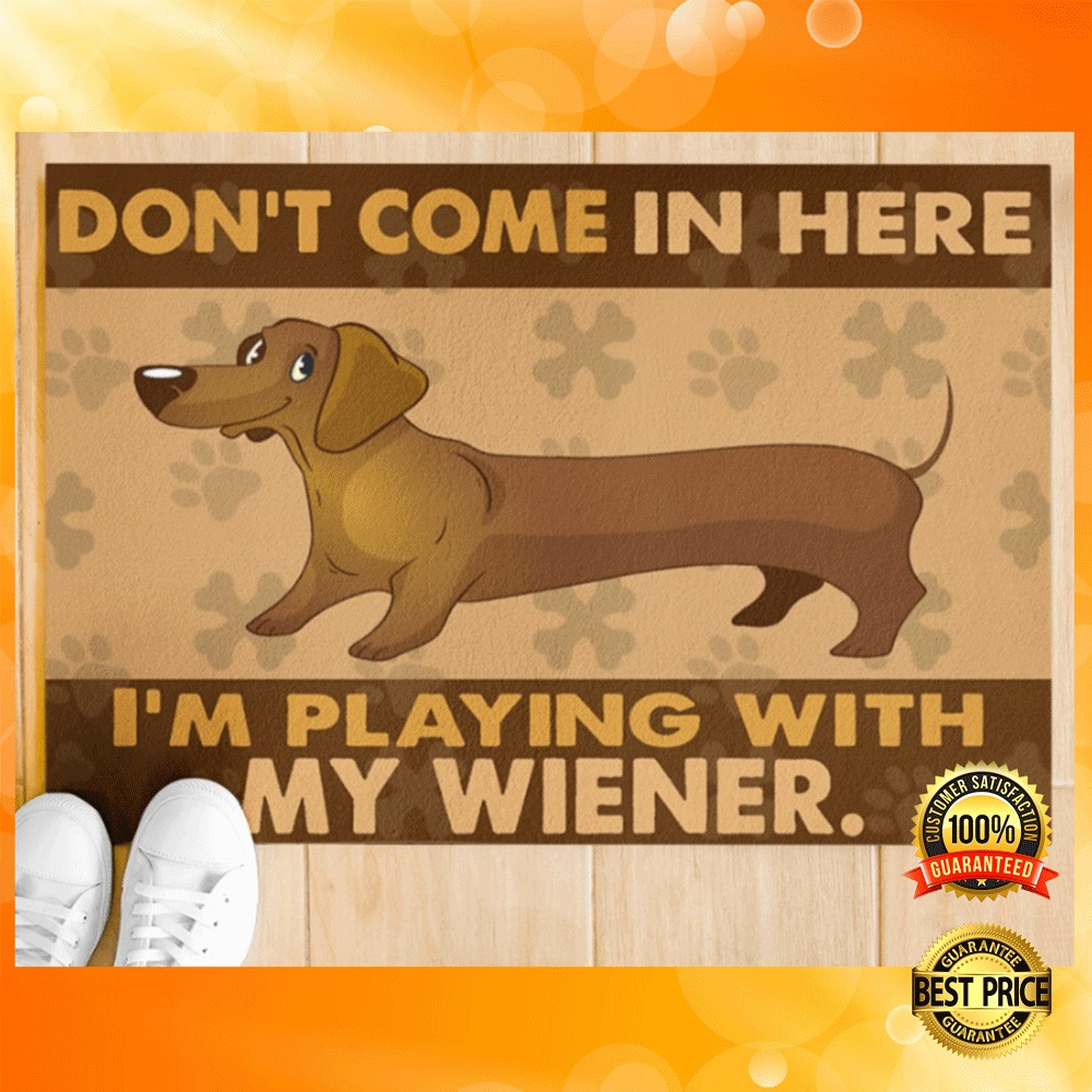 Dont come in here im playing with my wiener doormat1