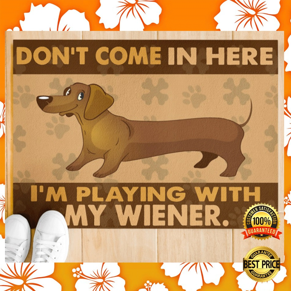 Dont come in here im playing with my wiener doormat2