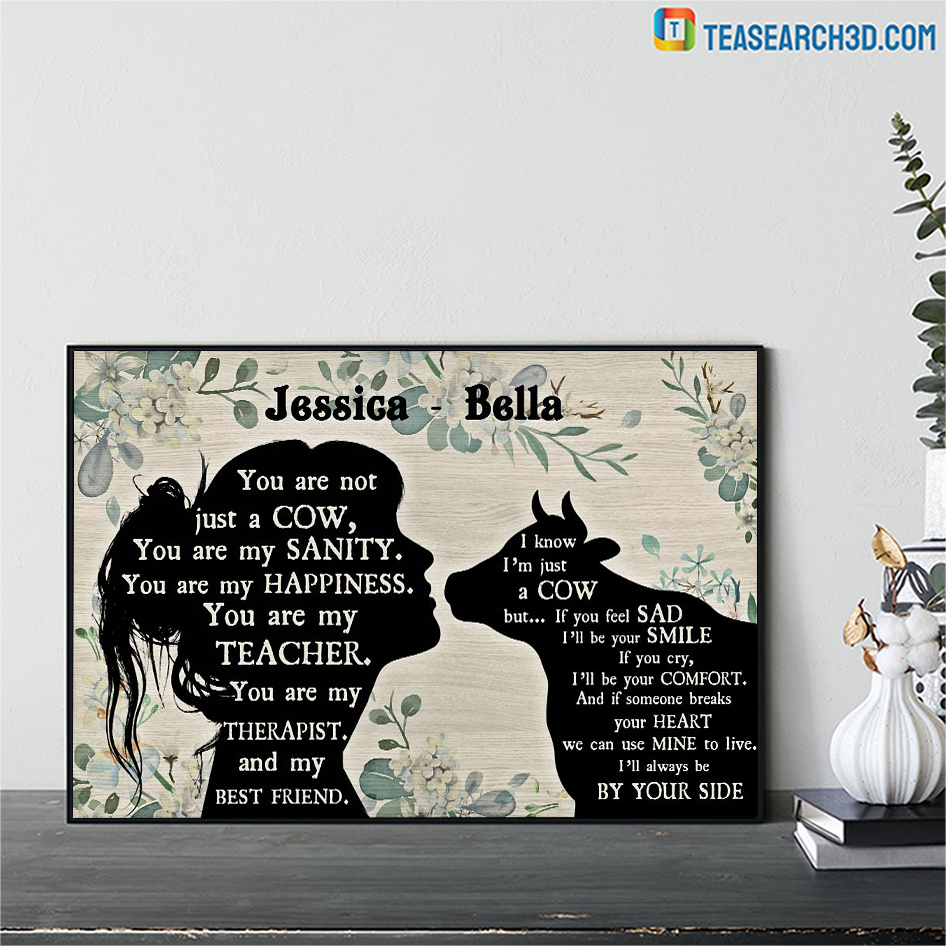 Personalized custom name you are not just a cow poster A1