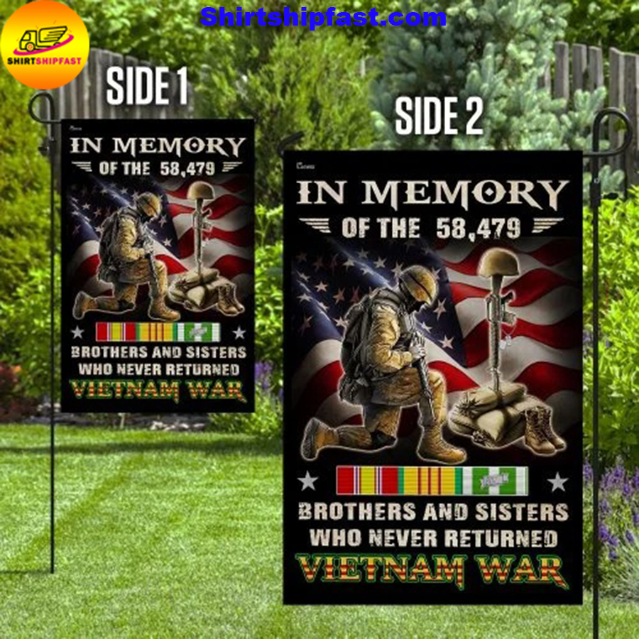 Vietnam Veteran brothers and sisters who never returned Vietnam war flag - Picture 1