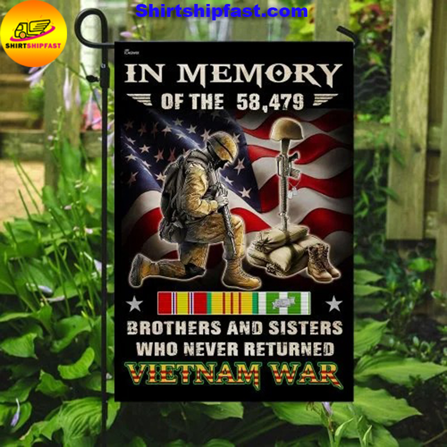 Vietnam Veteran brothers and sisters who never returned Vietnam war flag - Picture 2