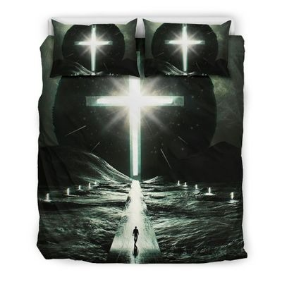 Way to cross light with person bedding set
