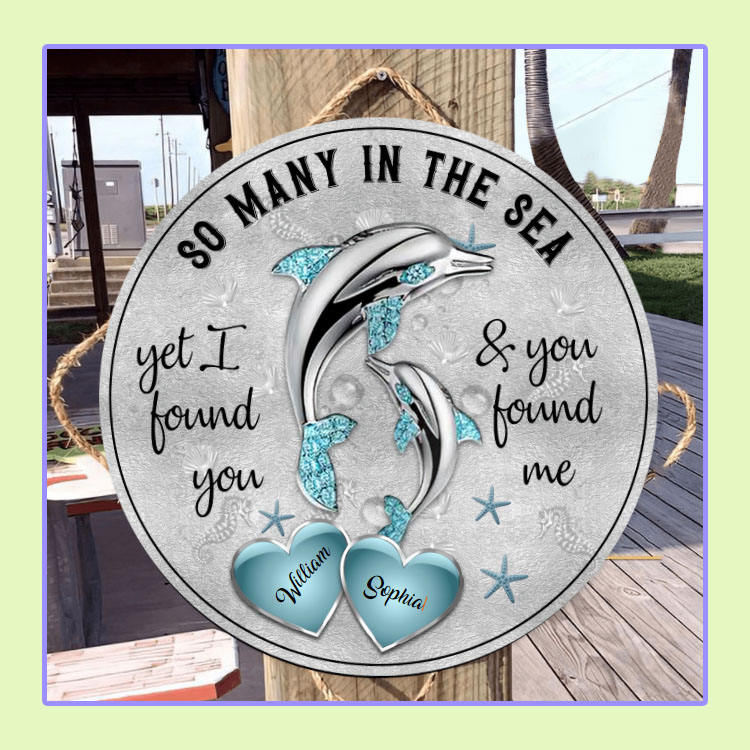 Dolphins So many in the sea custom name circle sign1
