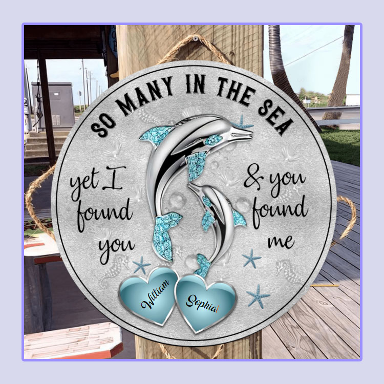 Dolphins So many in the sea custom name circle sign3