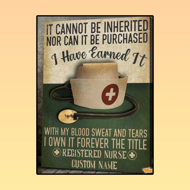 Nurse It cannot be inherited nor can it be purchased custom name canvas2