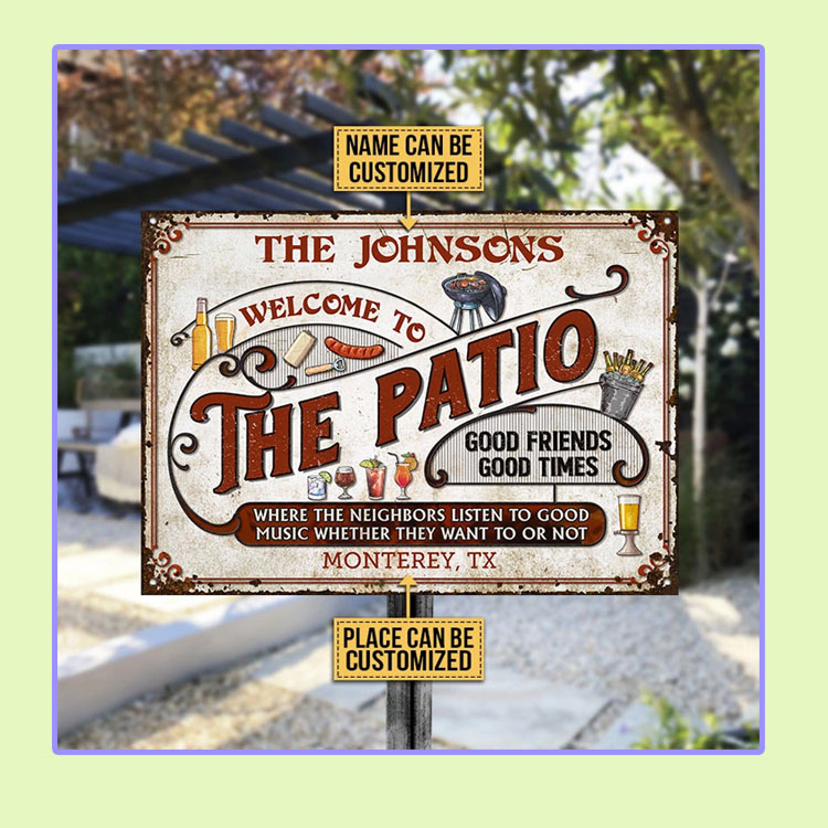 Patio Grilling Red Listen To The Good Music custom name Metal Signs1