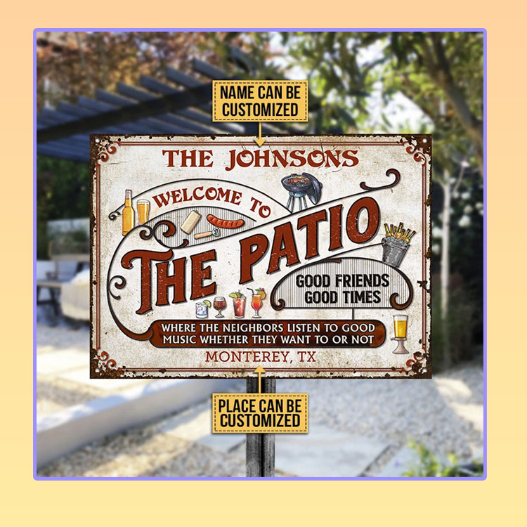 Patio Grilling Red Listen To The Good Music custom name Metal Signs2