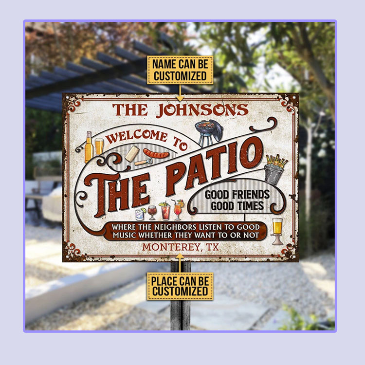 Patio Grilling Red Listen To The Good Music custom name Metal Signs3