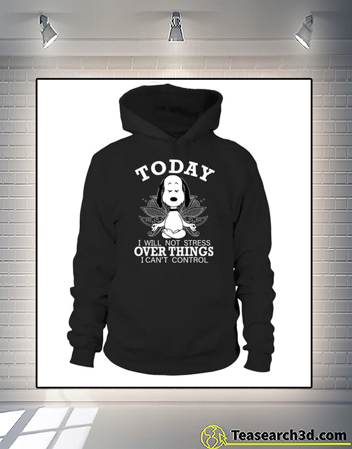 Snoopy today I will not stress over things I can't control hoodie