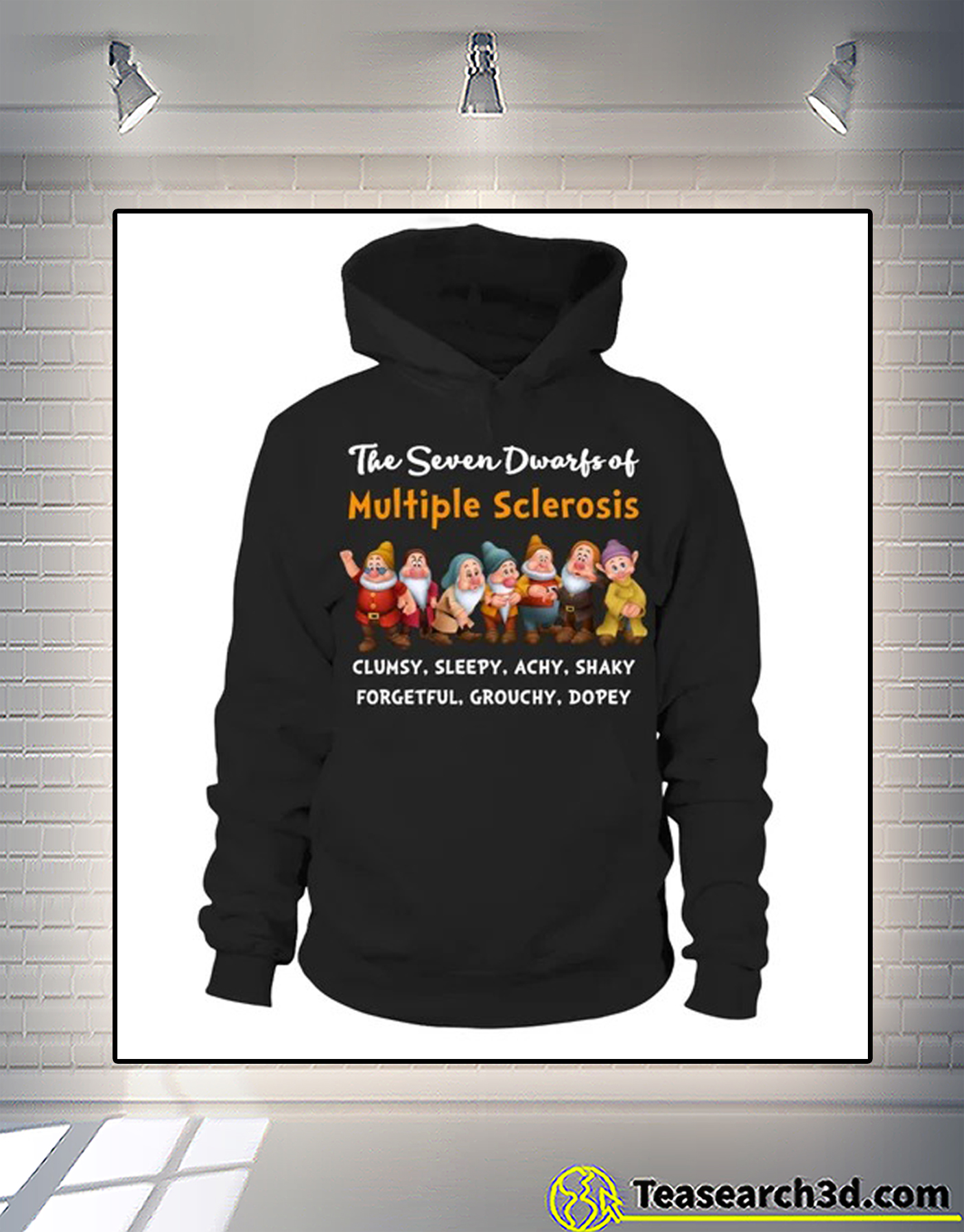 The seven dwarfs of multiple sclerosis clumsy sleepy hoodie