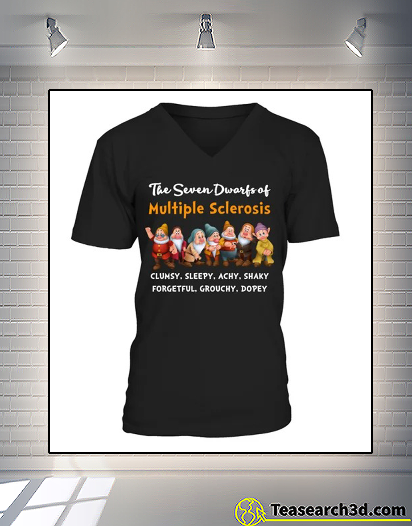 The seven dwarfs of multiple sclerosis clumsy sleepy v-neck