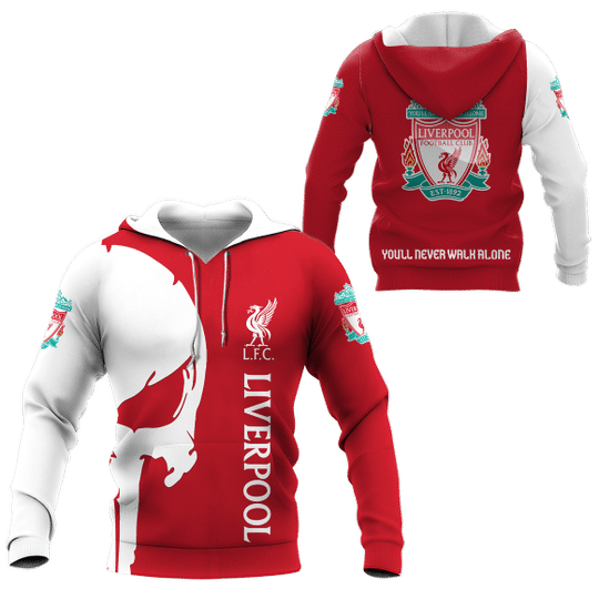 Punisher Skull Liverpool 3d all over printed hoodie