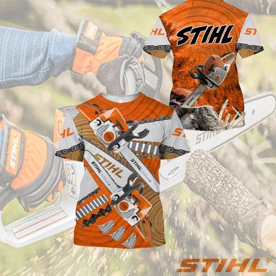 Stihl 3d all over printed shirt, hoodie